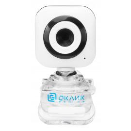 Камера Web Оклик OK-C8812 белый 0.3Mpix (640x480) USB2.0 с микрофоном