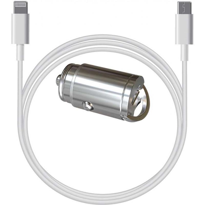 Автомобильное зар./устр. Wiiix UCC-1-6-CB-710aU8(1.0)-01 3A QC универсальное кабель Apple Lightning/Type-C белый