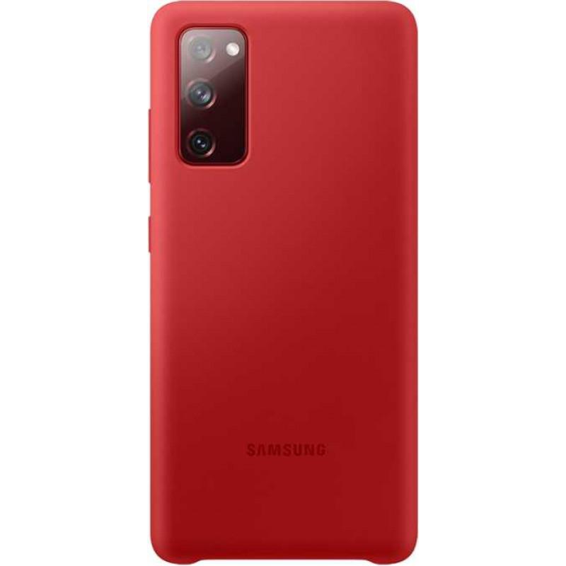 Чехол (клип-кейс) Samsung для Samsung Galaxy S20 FE Silicone Cover красный (EF-PG780TREGRU)