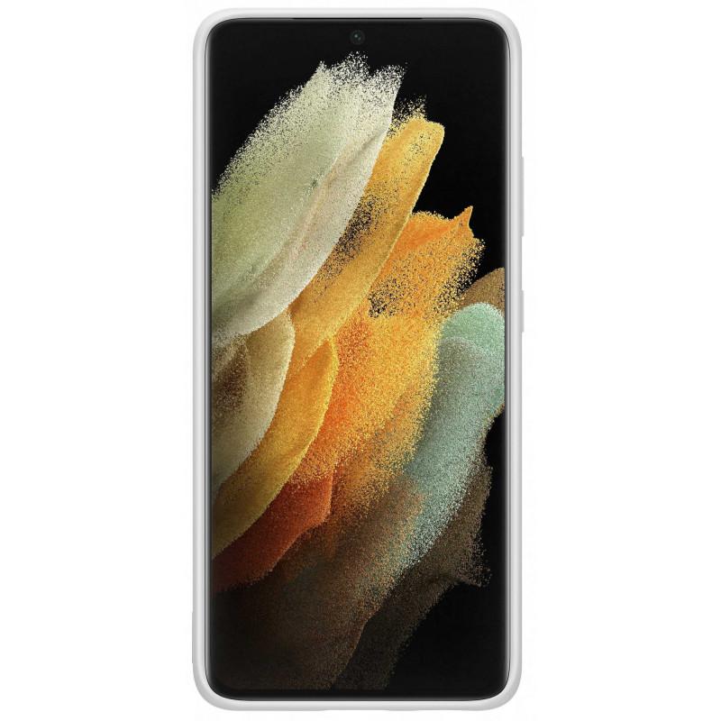 Чехол (клип-кейс) Samsung для Samsung Galaxy S21 Ultra Silicone Cover светло-серый (EF-PG998TJEGRU)