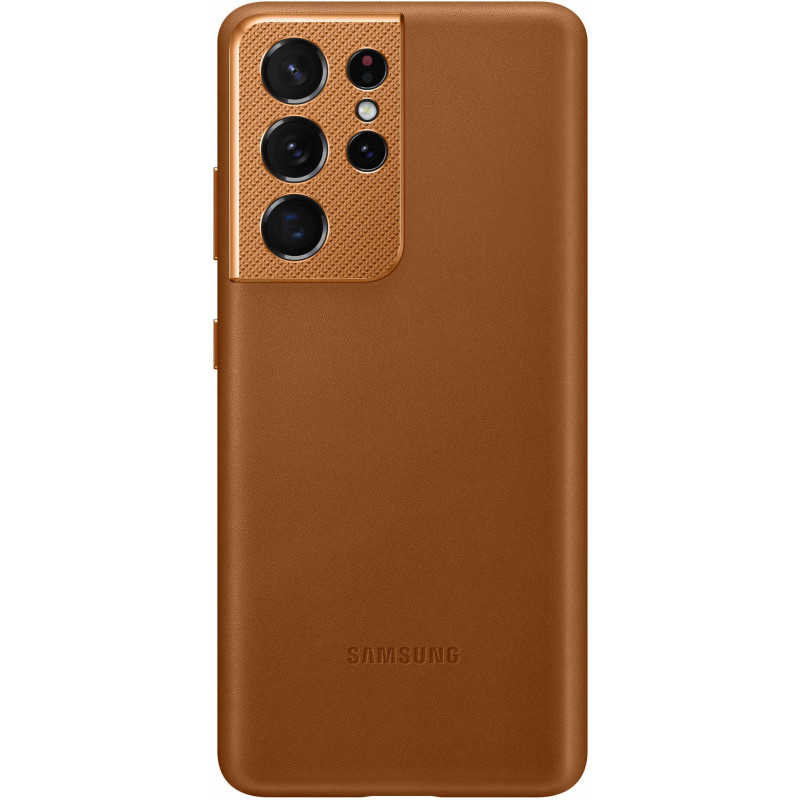 Чехол (клип-кейс) Samsung для Samsung Galaxy S21 Ultra Leather Cover коричневый (EF-VG998LAEGRU)