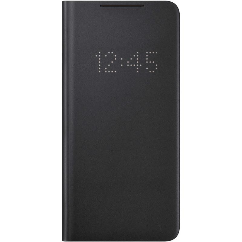 Чехол (флип-кейс) Samsung для Samsung Galaxy S21+ Smart LED View Cover черный (EF-NG996PBEGRU)