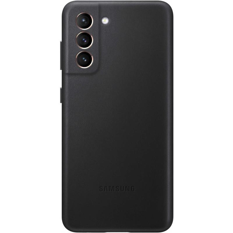 Чехол (клип-кейс) Samsung для Samsung Galaxy S21 Leather Cover черный (EF-VG991LBEGRU)