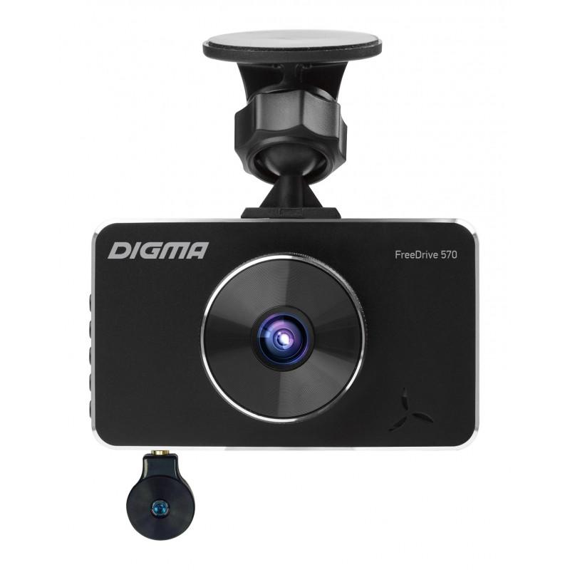 Видеорегистратор Digma FreeDrive 570 черный 3Mpix 1080x1920 1080p 170гр. NTK96558