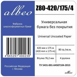 Бумага Albeo Z80-420/175/4 16.5