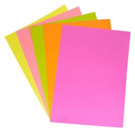 Бумага Silwerhof 719003 A4/80г/м2/100л./радуга неон (5цветов)