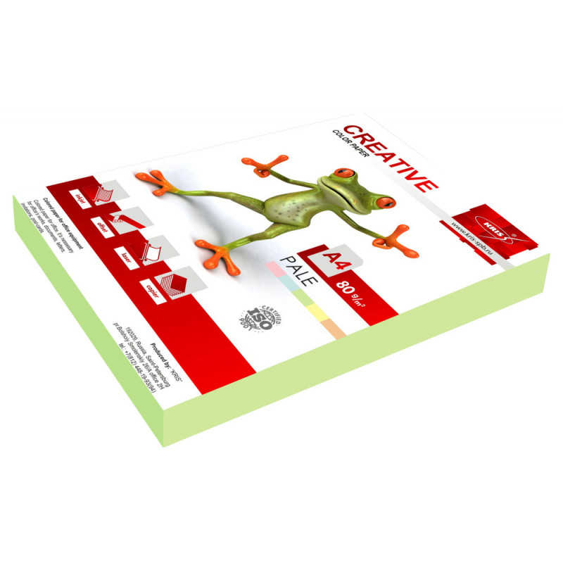Бумага Creative БПPR-250З A4/80г/м2/250л./зеленый пастель универсальная