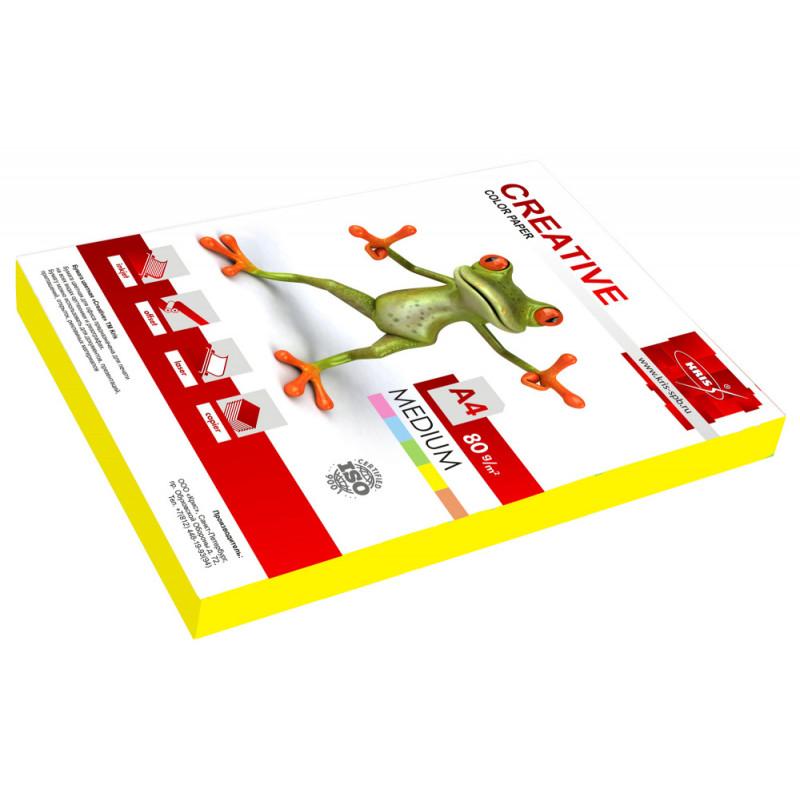 Бумага Creative БОPR-250Ж A4/80г/м2/250л./желтый медиум универсальная