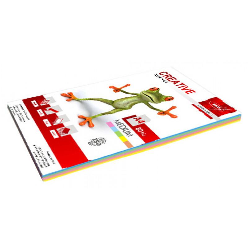 Бумага Creative БОPR-100R A4/80г/м2/100л./радуга медиум (5цветов) универсальная