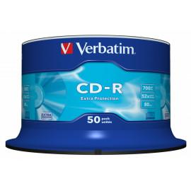 Диск CD-R Verbatim 700Mb 52x Cake Box (50шт) (43351)