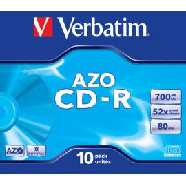Диск CD-R Verbatim 700Mb 52x Jewel case (10шт) (43327)