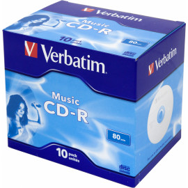 Диск CD-R Verbatim 700Mb 16x Jewel case (10шт) (43365)