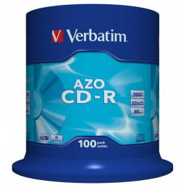 Диск CD-R Verbatim 700Mb 52x Cake Box (100шт) (43430)