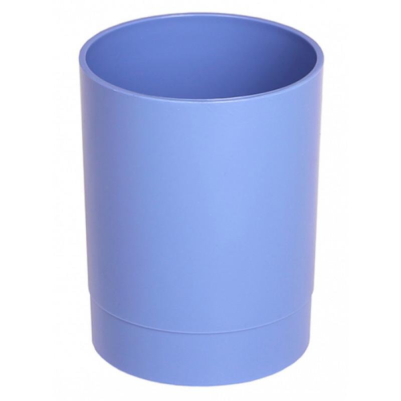 Стакан для канцелярских принадлежностей Стамм СН640 ОФИС Berlin 70х70х90мм пластик голубой