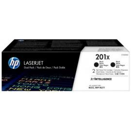 Картридж лазерный HP 201X CF400XD черный x2упак. (5600стр.) для HP CLJ Pro M252/M277