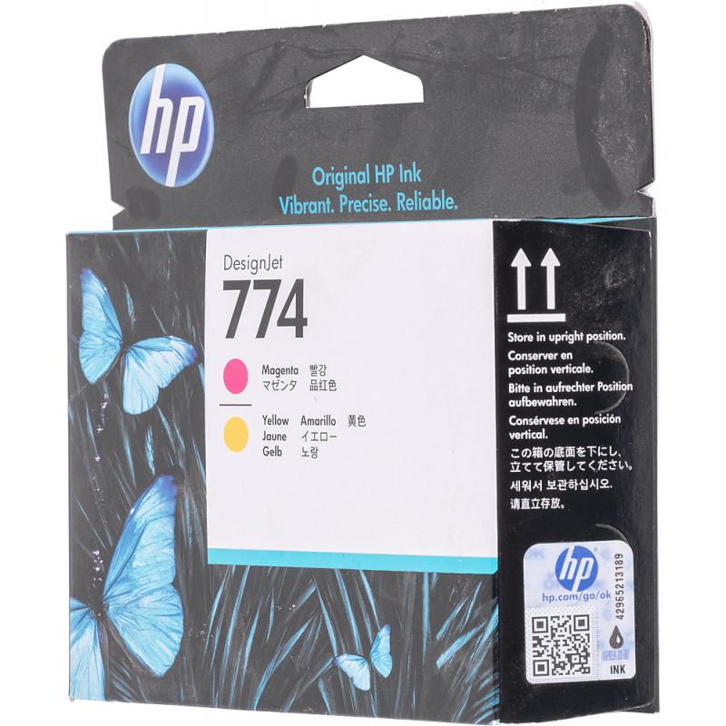 Картридж струйный HP 774 P2V99A пурпурный/желтый (775мл) для HP DJ Z6810