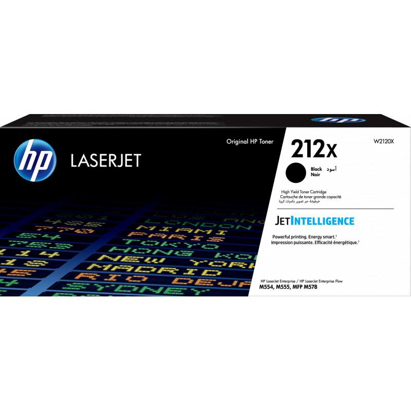 Картридж лазерный HP 212X W2120X черный (13000стр.) для HP CLJ Enterprise M554/M555