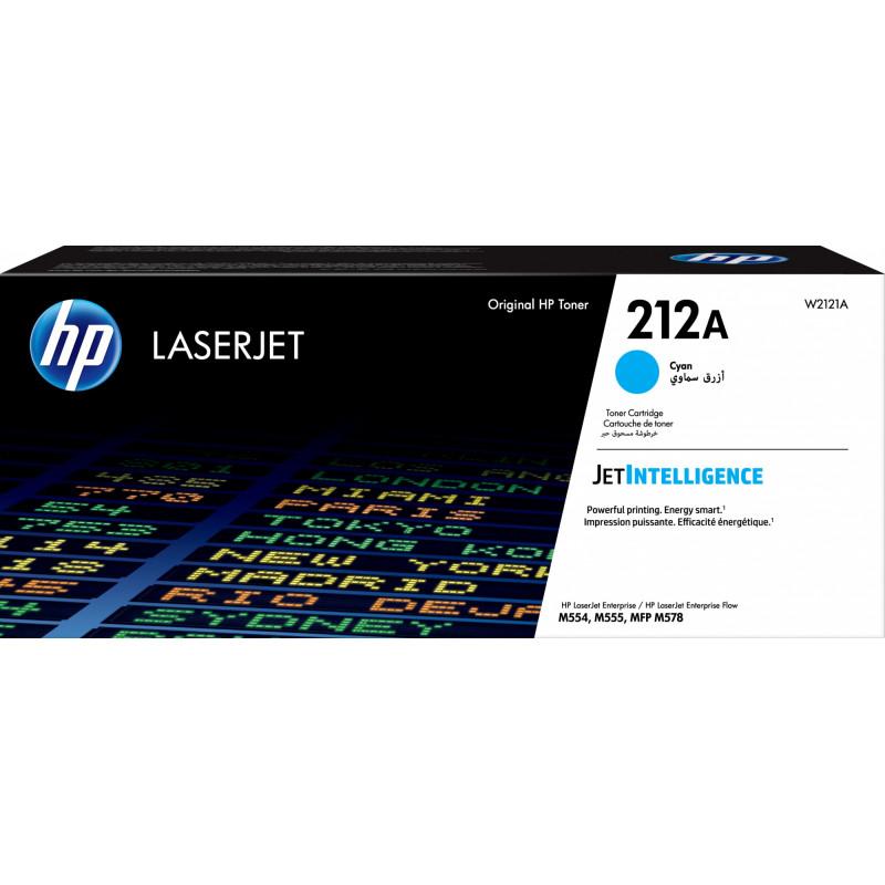 Картридж лазерный HP 212A W2121A голубой (4500стр.) для HP CLJ Enterprise M554/M555