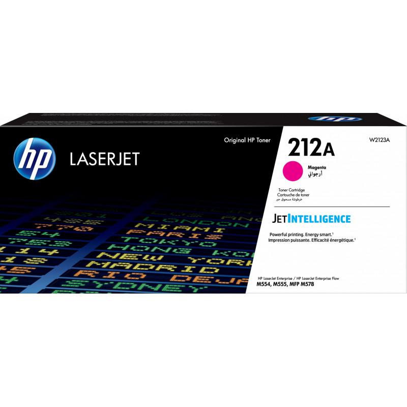 Картридж лазерный HP 212A W2123A пурпурный (4500стр.) для HP CLJ Enterprise M554/M555