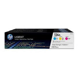 Картридж лазерный HP 126A CF341A голубой/пурпурный/желтый набор (1000стр.) для HP LJ CP1025
