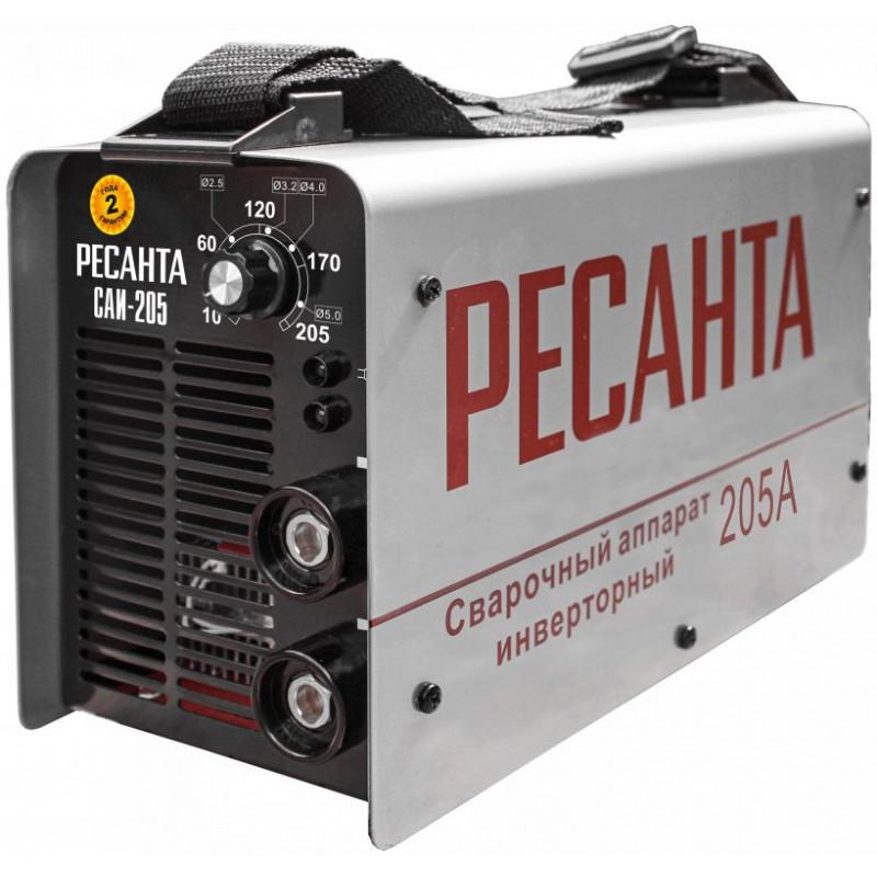 Сварочный аппарат Ресанта САИ205 инвертор ММА DC 7.3кВт
