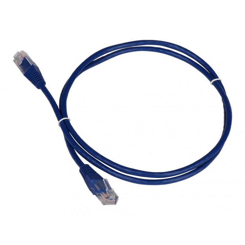 Патч-корд Lanmaster TWT-45-45-1.5-BL UTP вилка RJ-45-вилка RJ-45 кат.5е 1.5м синий ПВХ (уп.:1шт)