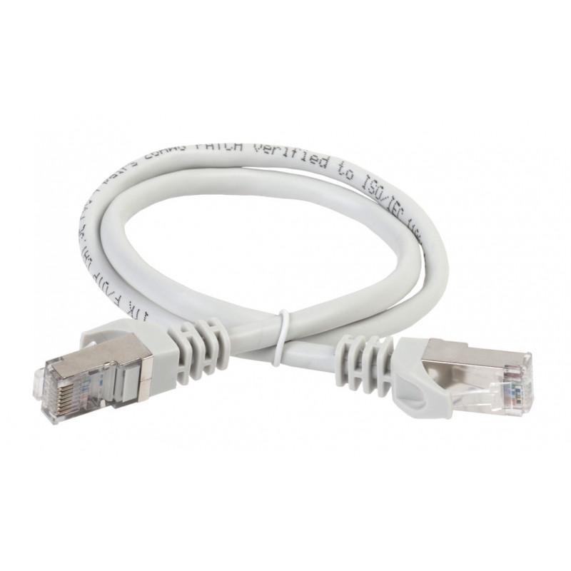 Патч-корд ITK PC01-C5EFL-5M FTP вилка RJ-45-вилка RJ-45 кат.5е 5м серый LSZH