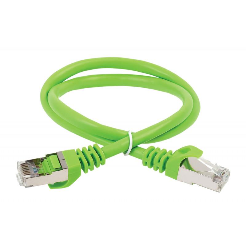 Патч-корд ITK PC02-C5EFL-5M FTP вилка RJ-45-вилка RJ-45 кат.5е 5м зеленый LSZH (уп.:1шт)