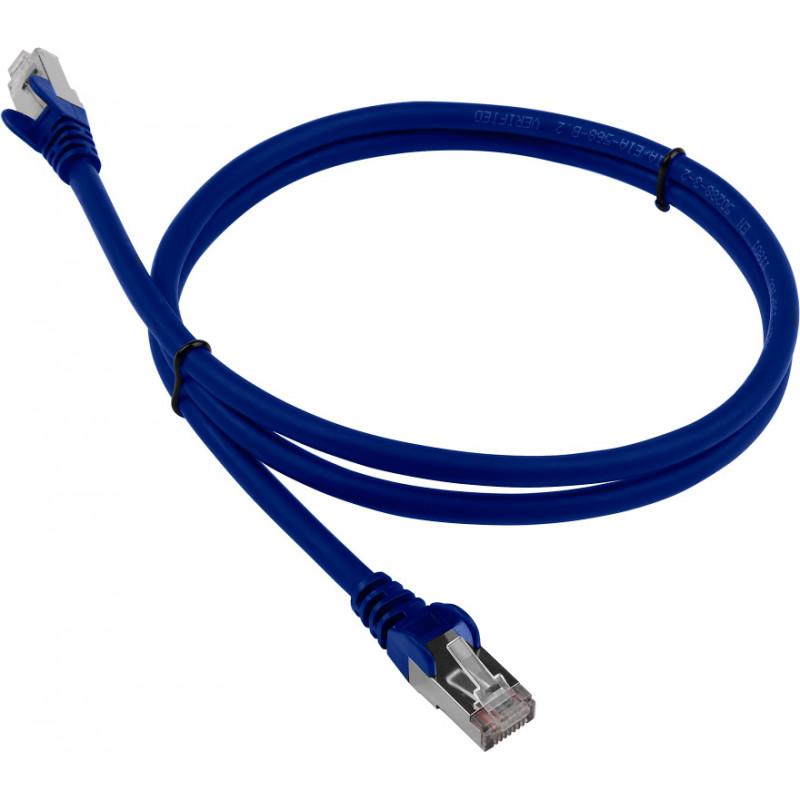 Патч-корд Lanmaster LAN-PC45/S6-0.5-BL FTP вилка RJ-45-вилка RJ-45 кат.6 0.5м синий LSZH
