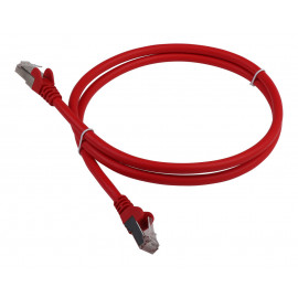 Патч-корд Lanmaster LAN-PC45/S6-1.0-RD FTP вилка RJ-45-вилка RJ-45 кат.6 1м красный LSZH (уп.:1шт)