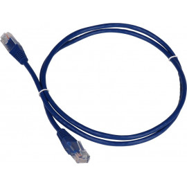 Патч-корд Lanmaster TWT-45-45-0.5-BL UTP вилка RJ-45-вилка RJ-45 кат.5е 0.5м синий ПВХ (уп.:1шт)