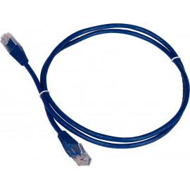 Патч-корд Lanmaster TWT-45-45-1.0-BL UTP вилка RJ-45-вилка RJ-45 кат.5е 1м синий ПВХ (уп.:1шт)