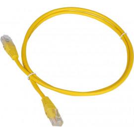 Патч-корд Lanmaster TWT-45-45-1.0-YL UTP вилка RJ-45-вилка RJ-45 кат.5е 1м желтый ПВХ (уп.:1шт)