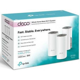 Бесшовный Mesh роутер TP-Link Deco E4 (DECO E4(3-PACK)) AC1200 10/100BASE-TX (упак.:3шт)