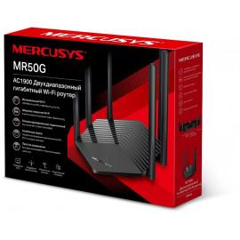Роутер беспроводной Mercusys MR50G AC1900 10/100/1000BASE-TX черный