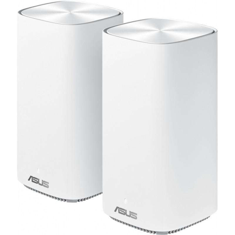 Бесшовный Mesh роутер Asus ZenWiFi AC CD6 MINI (CD6(2-PK)) AC1500 10/100/1000BASE-TX белый (упак.:2шт)