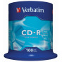 Диск CD-R Verbatim 700Mb 52x Cake Box (100шт) (43411)